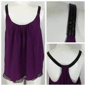 Hy & Dot Silk Halter Top Size M Nordstrom Layered